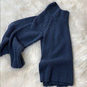 Free People Sweaters - Free People Blue Knit Oversized Sweater